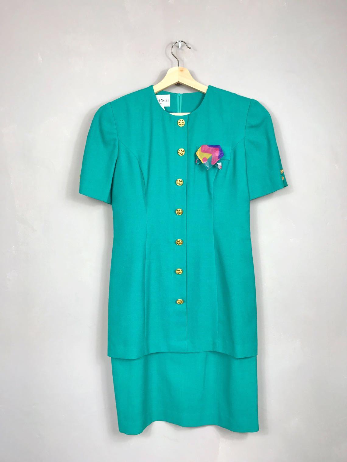 DANNY & NICOLE NEW YORK Sekretärinnenkleid 80er Vintage