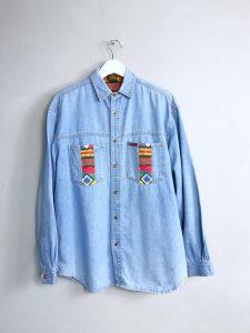 Vintage Jeanshemd von MONTANA ORIGINAL mit verzierten Brusttaschen