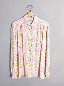 GALATEX ITALY Vintage Bluse Rosen