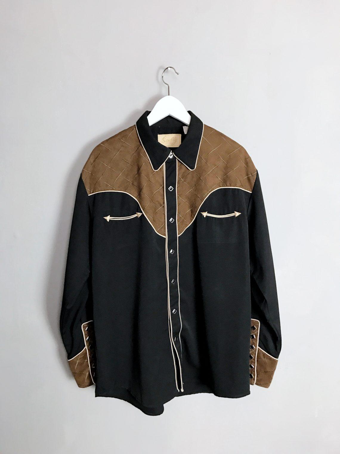 SCULLY Cowboy Western Shirt Kunstleder