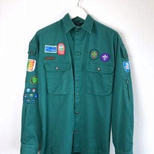 NANOK robustes Langarmhemd Outdoor shirt robust Aufnäher patches