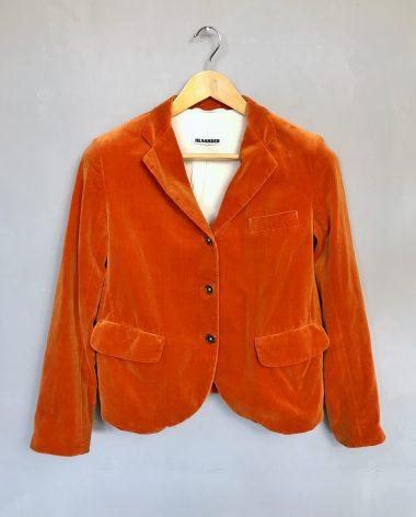 JIL SANDER orange blazer vintage