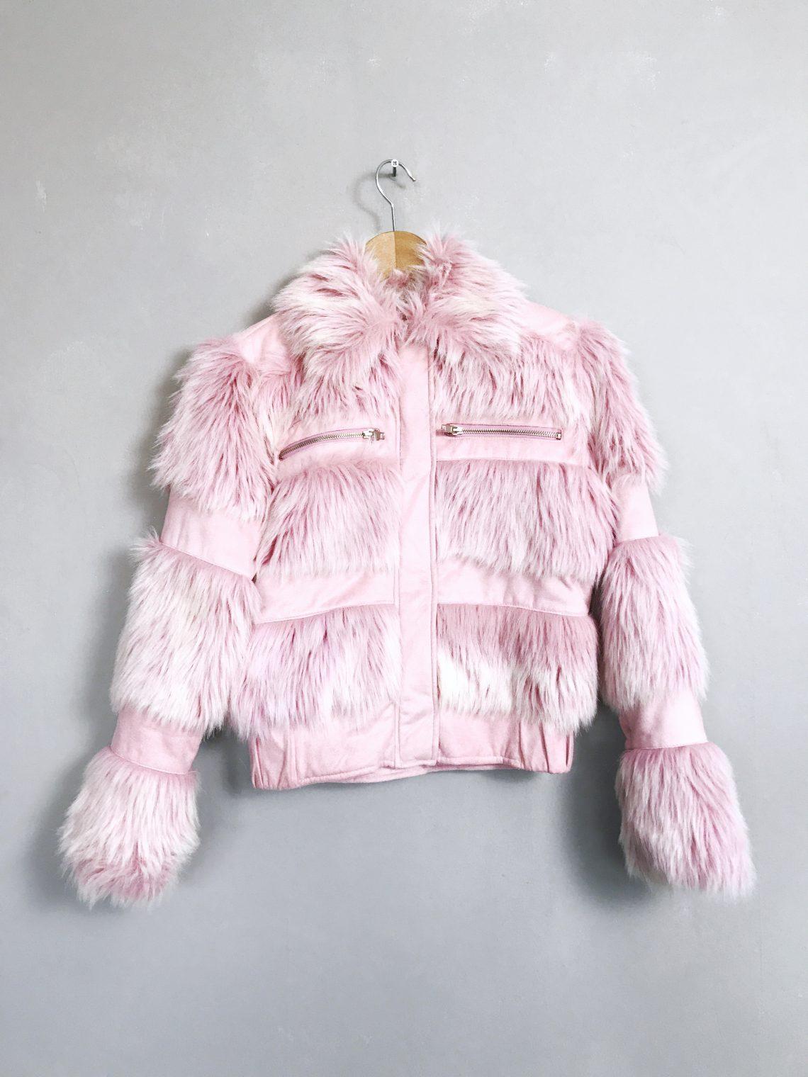 FUSCO 90er Vintage Kunstpelzjacke - 90s fake fur jacket