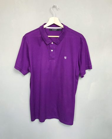 TIGER OF SWEDEN Poloshirt ECOLE lila purple polo shirt