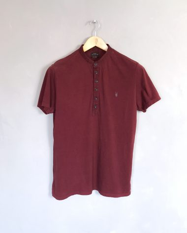 ALL SAINTS Poloshirt bordeaux polo shirt
